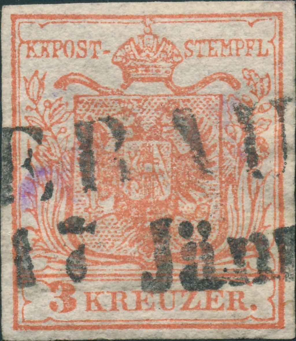 3 Kreuzer Type Ia1, Platte 1 14710