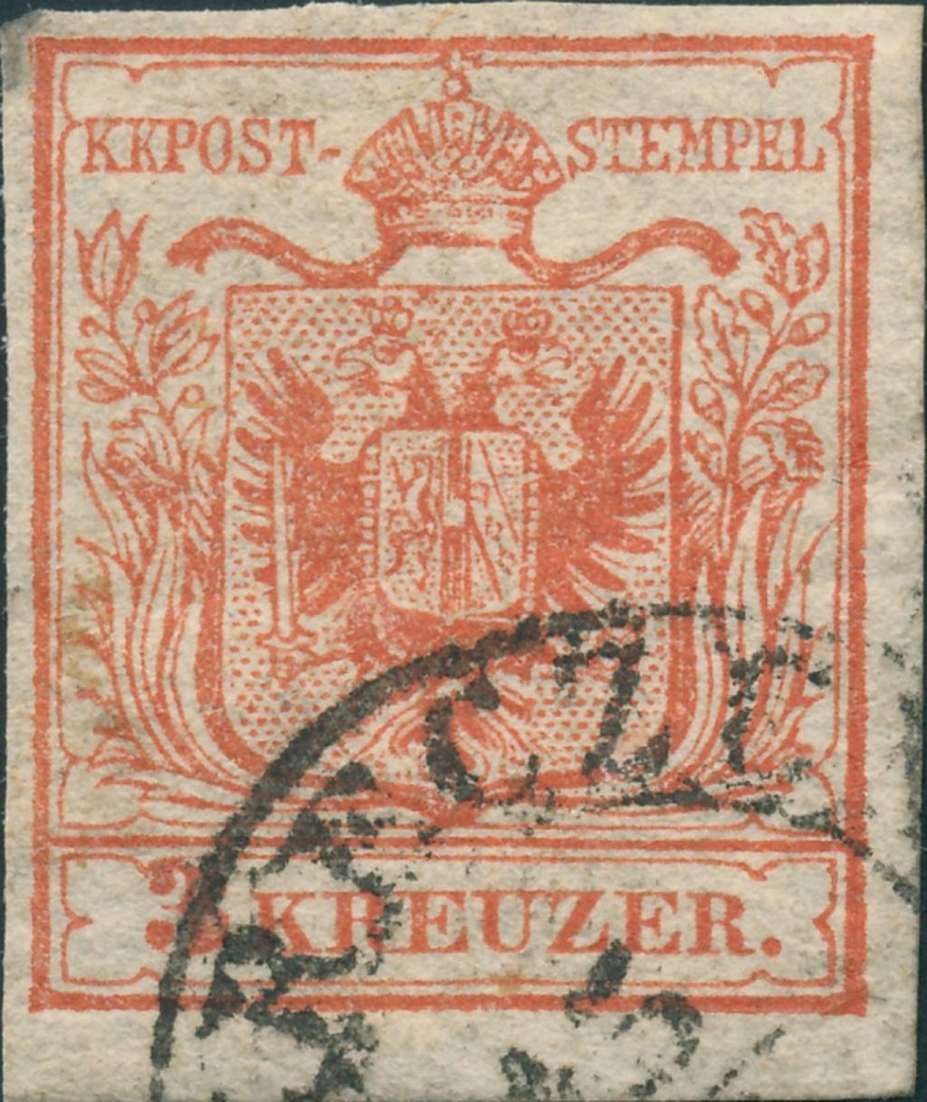 3 Kreuzer Type Ia1, Platte 1 24110