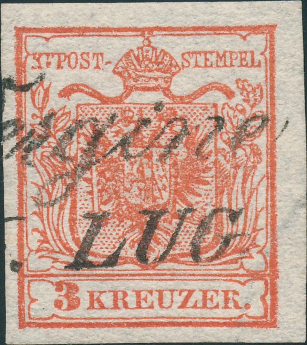 3 Kreuzer Type Ia1, Platte 1 28010