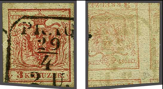 Die erste Österreichische Ausgabe 1850 - Seite 20 3_kr_t11