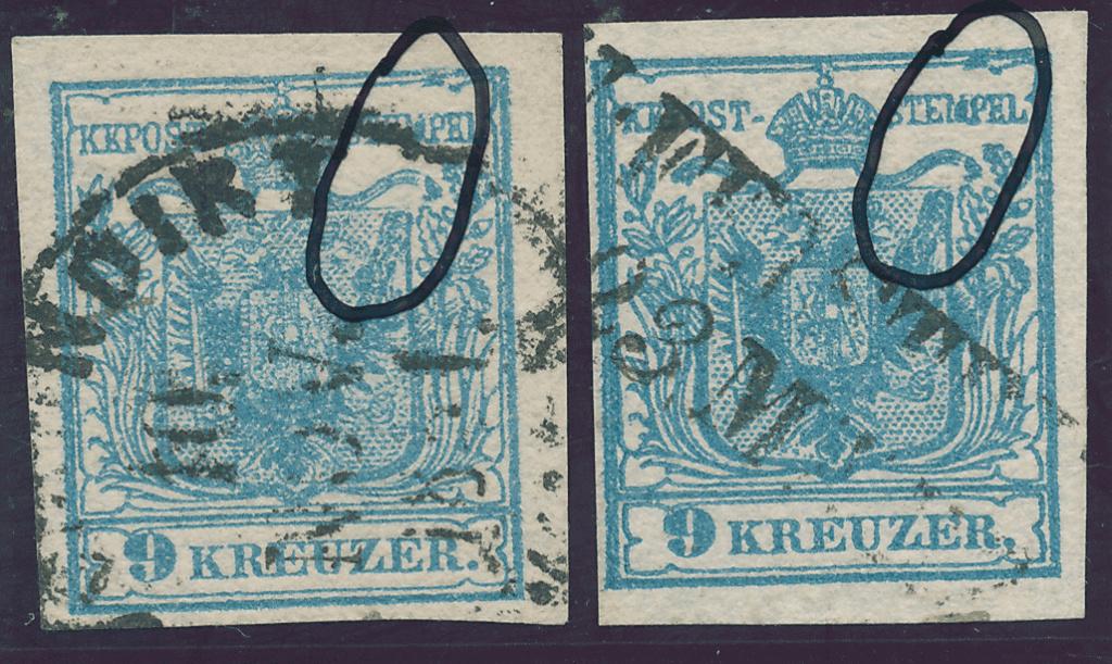 nach - Die erste Österreichische Ausgabe 1850 - Seite 24 9kreuz10