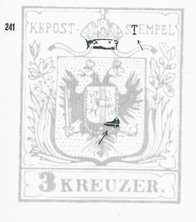 3 Kreuzer Type Ia1, Platte 1 Plf24110