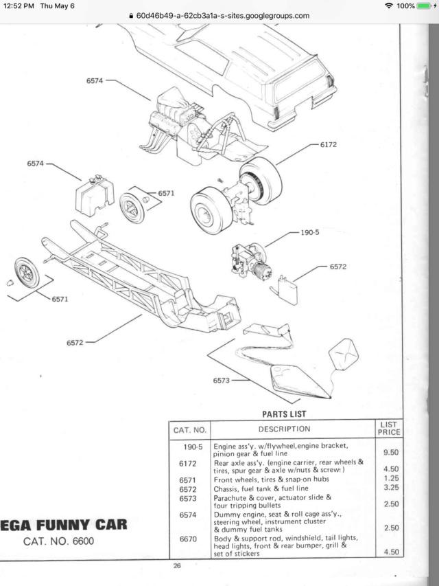 Cox Vega Funny Car - Rear Wheel Nut 20594510