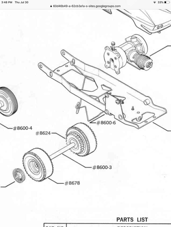 Cox car (Riviera and others)  fan/flywheel/drive gear 7ab1b010