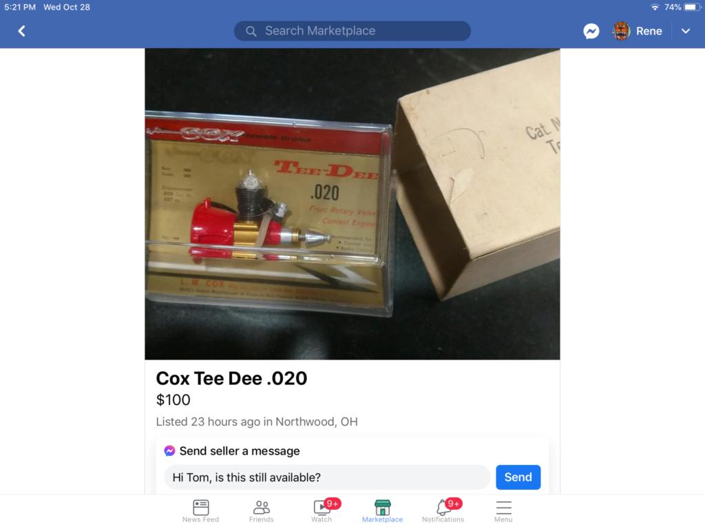 Cox Tee Dee .020 B3a9db10