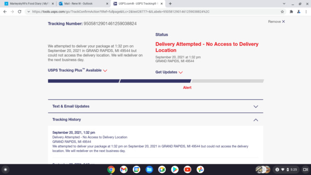 USPS Tracking Good days and Bad Screen48