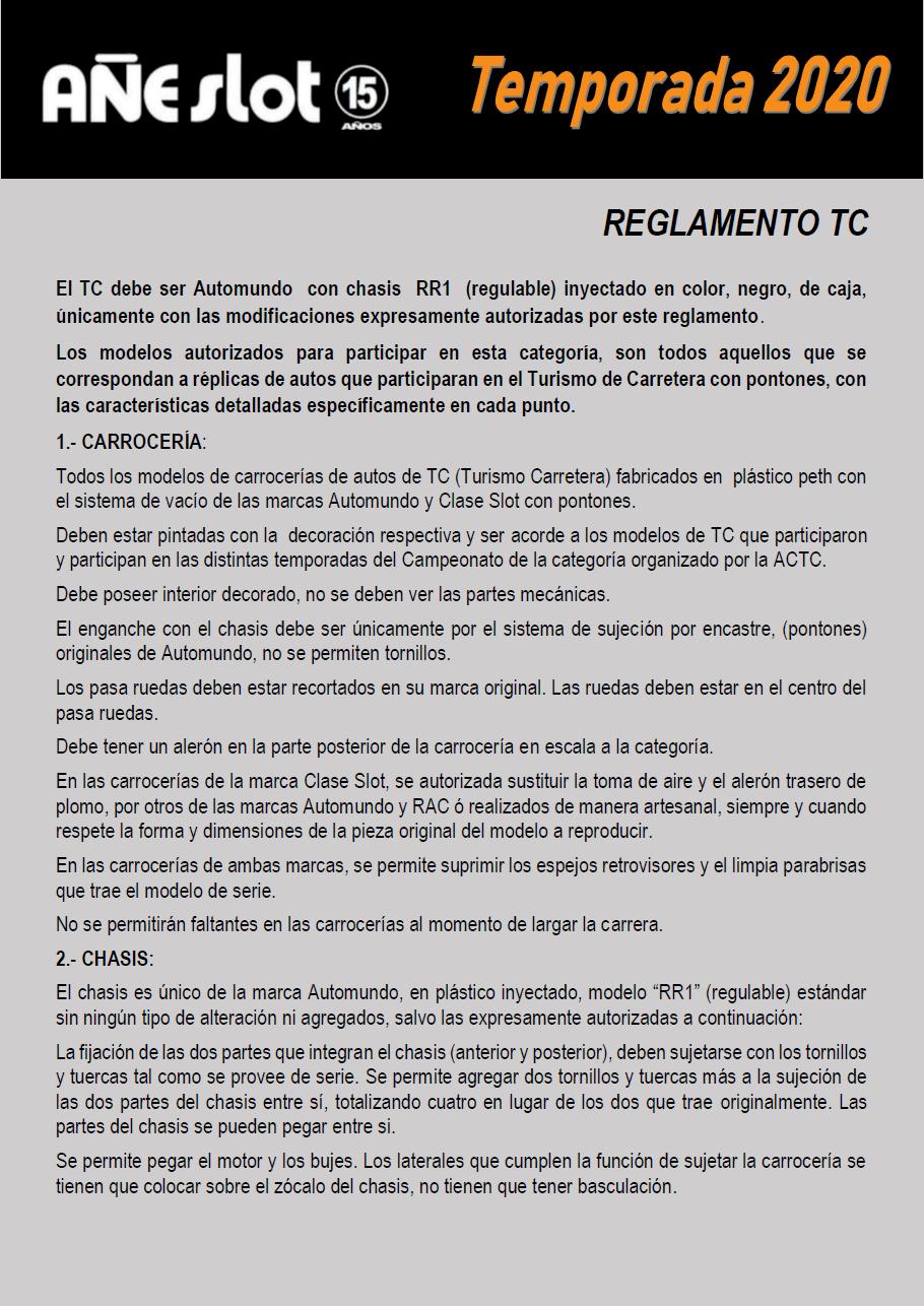 Temporada 2020 // Reglamento TC AUTOMUNDO Pagin128