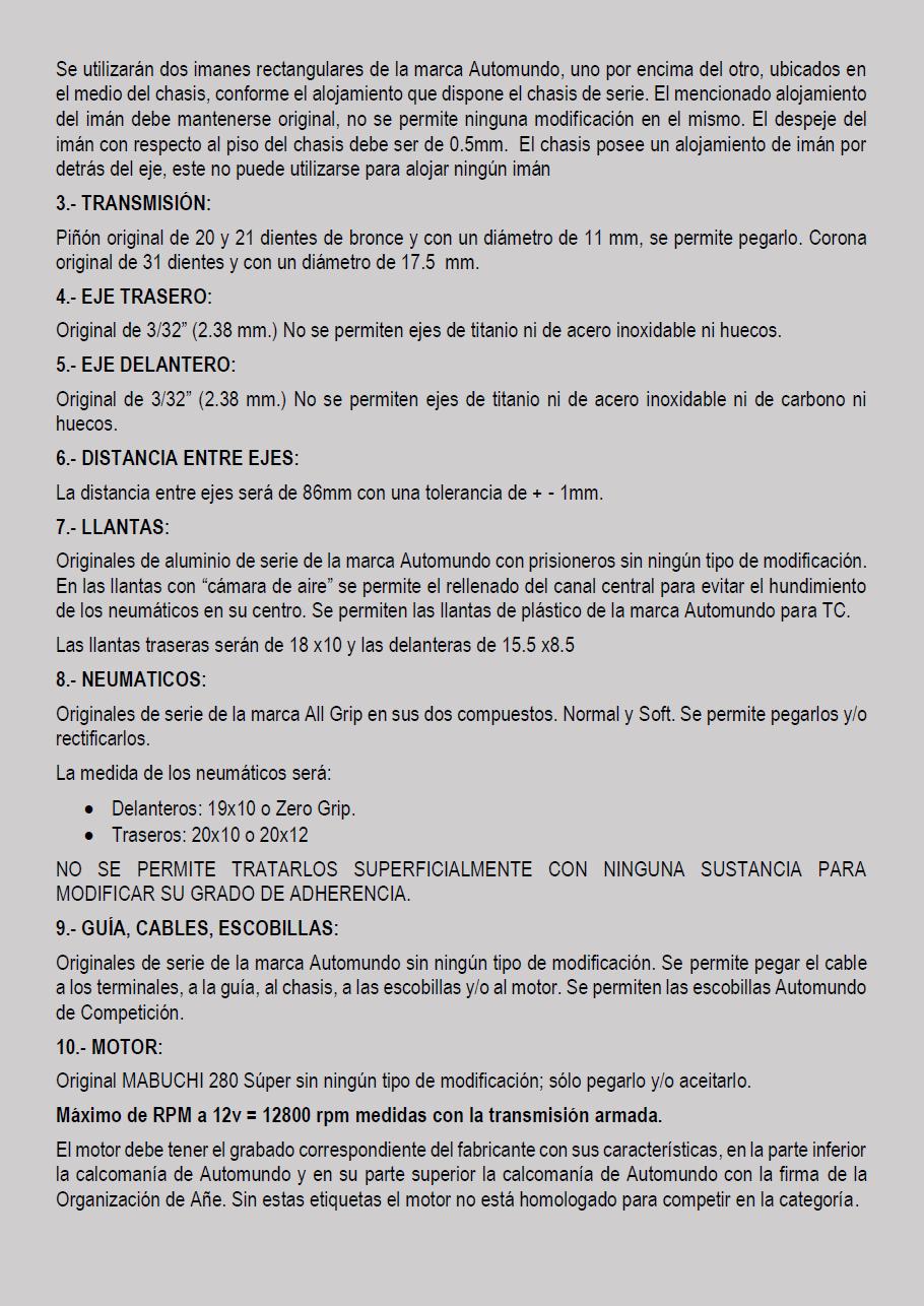 Temporada 2020 // Reglamento TC AUTOMUNDO Pagin129