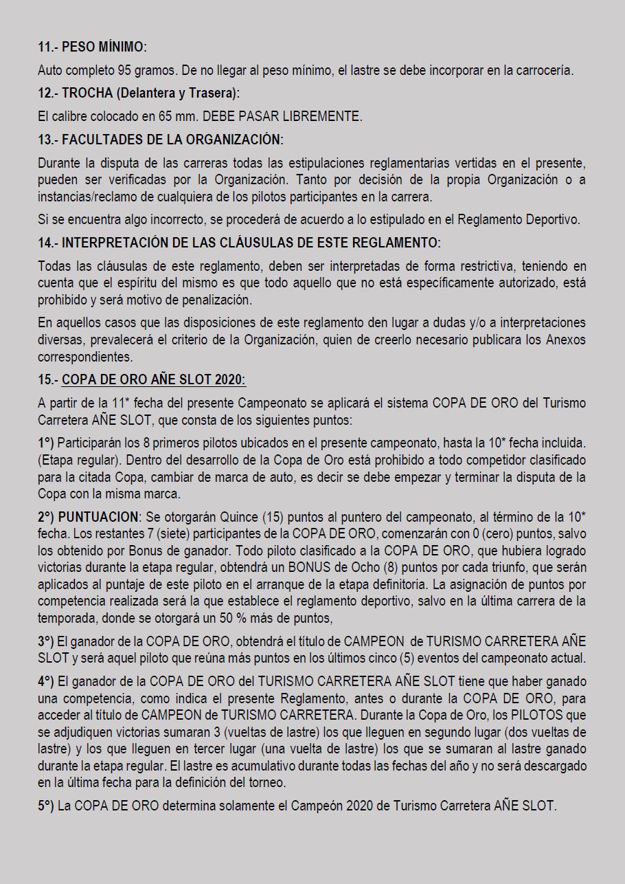 Temporada 2020 // Reglamento TC AUTOMUNDO Pagin130