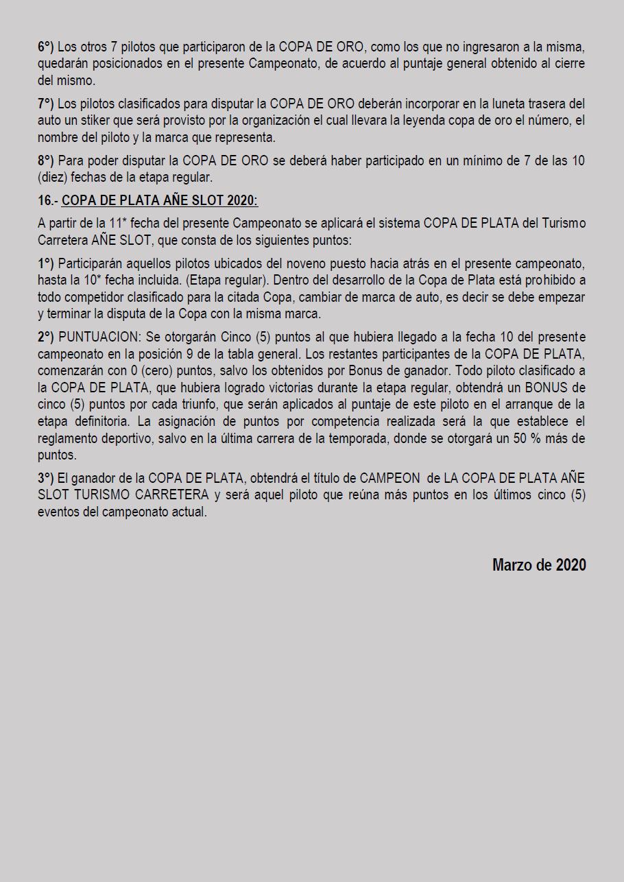 Temporada 2020 // Reglamento TC AUTOMUNDO Pagin131