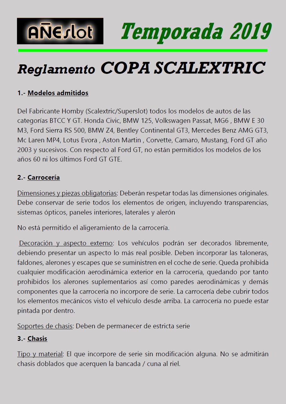 Temporada 2019 // Reglamento Técnico COPA SCALEXTRIC Pagina13