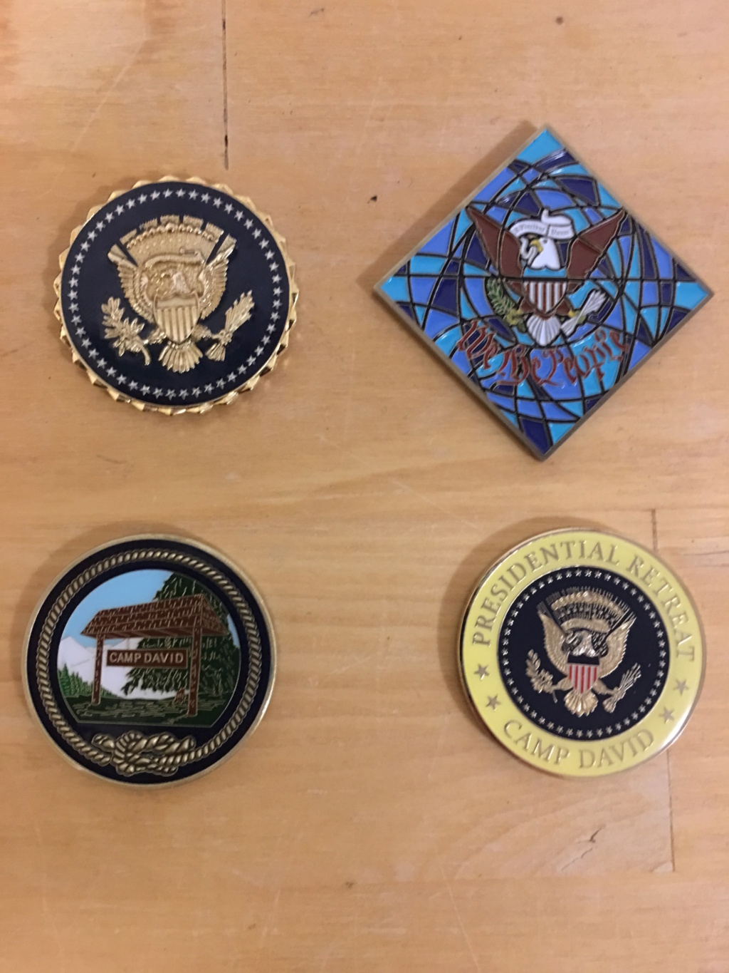Camp David Challenge Coins Img_2918