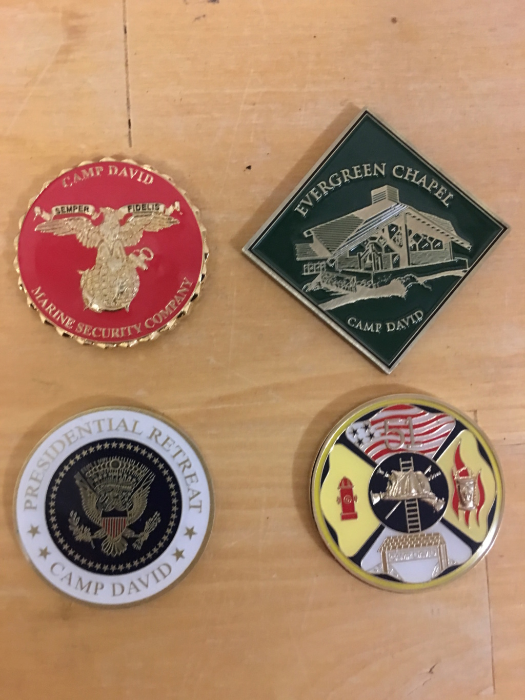 Camp David Challenge Coins Img_2919