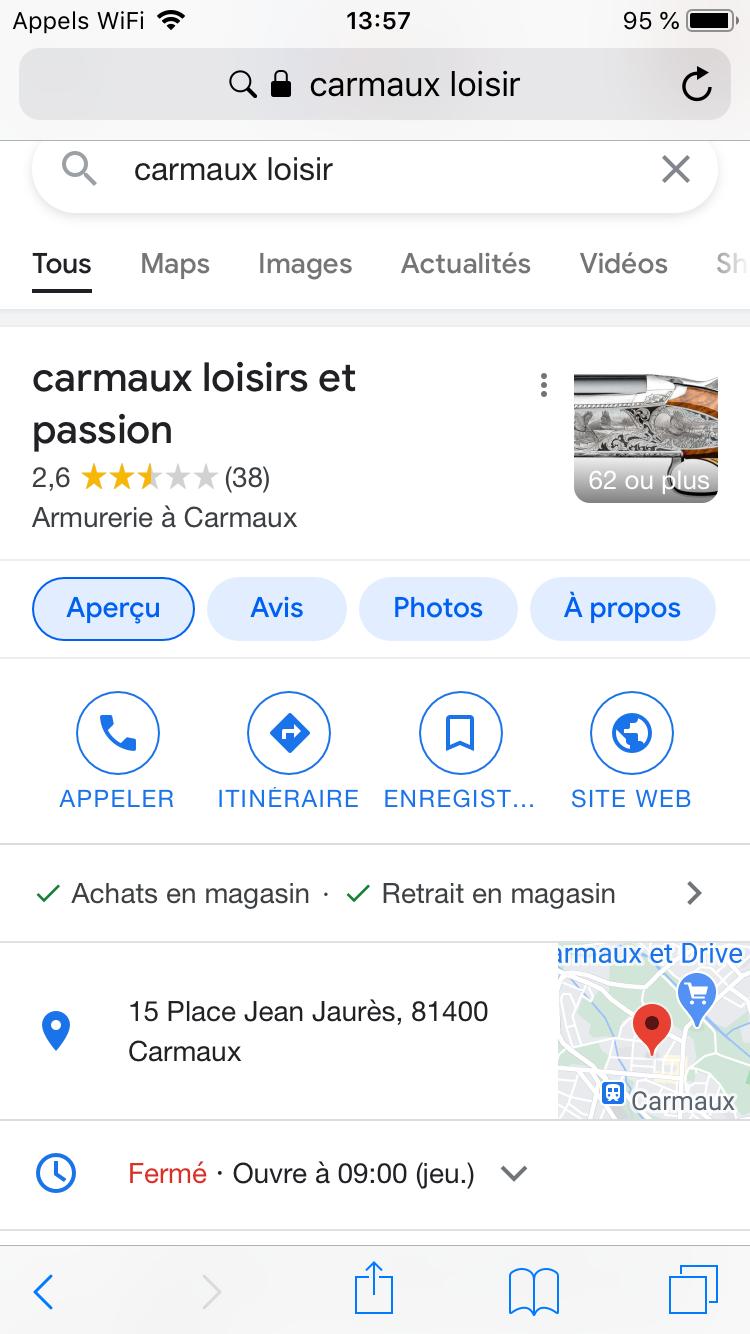 avis sur l'armurerie Carmaux Loisir 31609c10