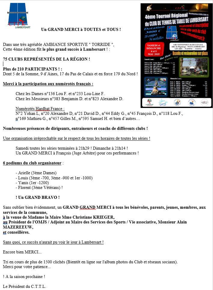 Tournoi Régional du C.T.T.Lambersart (59) - 4 & 5 mai 2019 Mot_du11