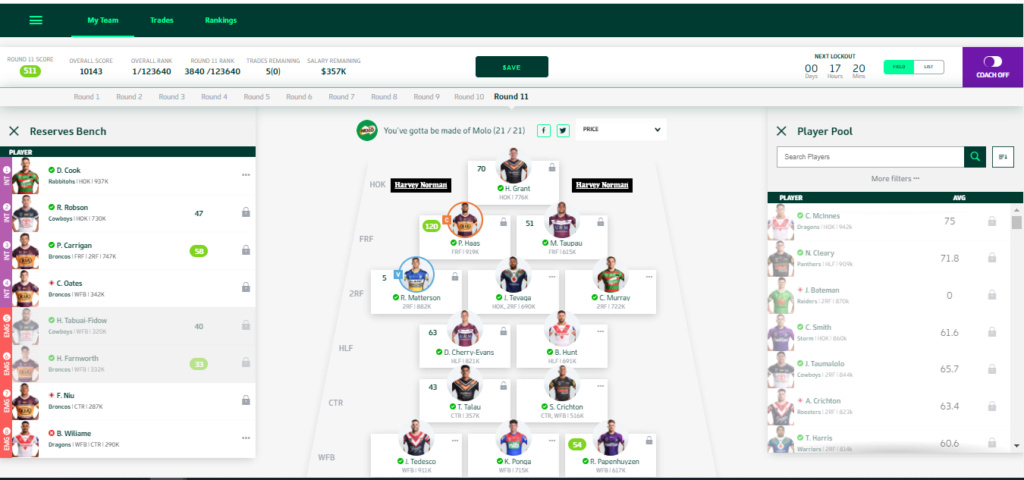 NRL Fantasy 2020 Part 66 - Wet weather Studs - Page 5 1st10