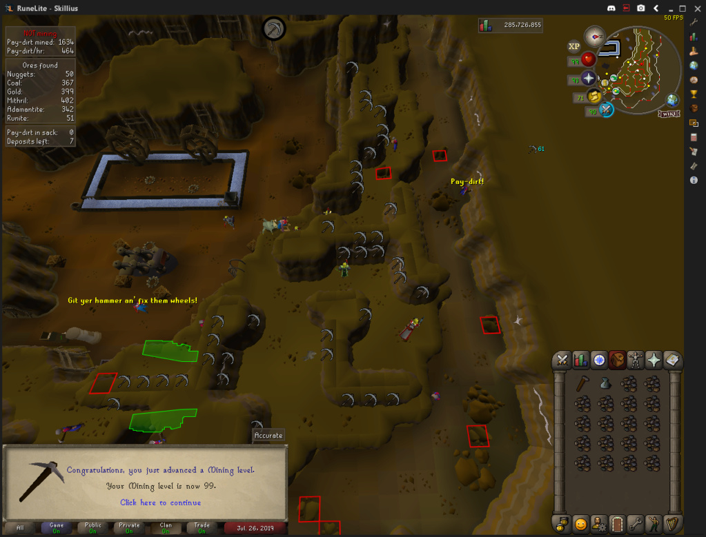 Skillius's Final Road to Maxed (Completed) Mining10