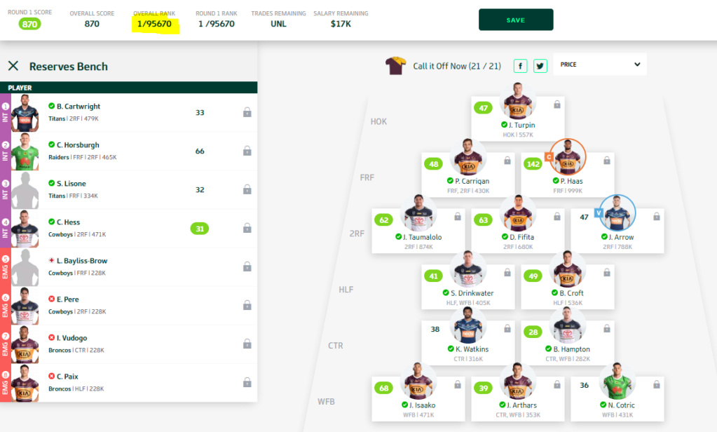 NRL Fantasy 2020 Part 16 - David Fifita broke Valentine Holmes ankles - Page 5 Ranked10