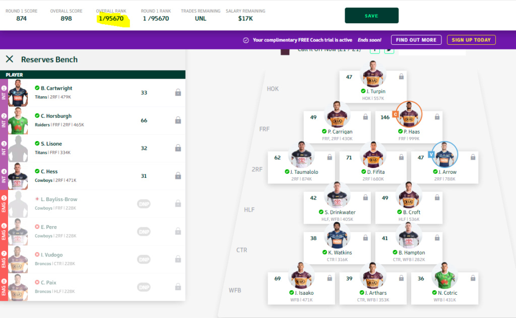 NRL Fantasy 2020 Part 16 - David Fifita broke Valentine Holmes ankles - Page 6 Ranked11