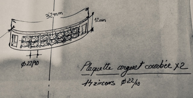 """Pavage sur plaque argent pour """"basket""""  Img_3319"""