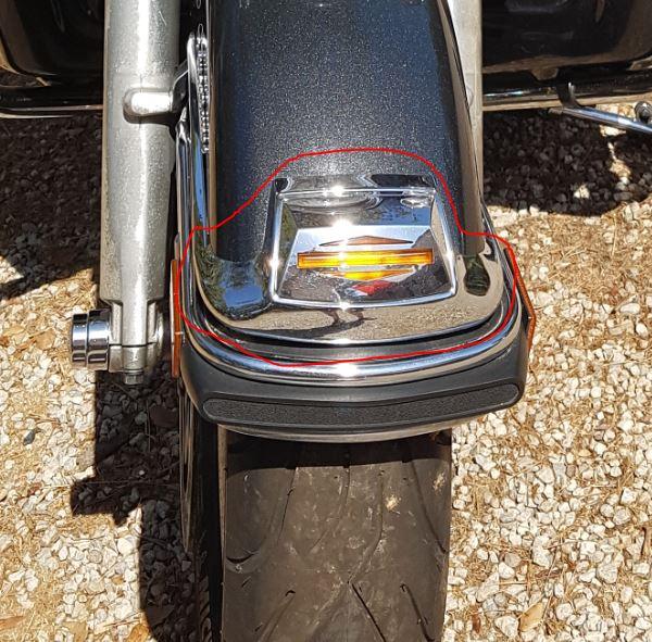 Remplacer le bloc lumière garbe boue avant electra Gb10
