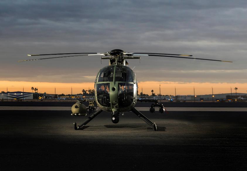 MDHI revela su nueva generación del helicóptero MD 530 Little Bird Gforb210