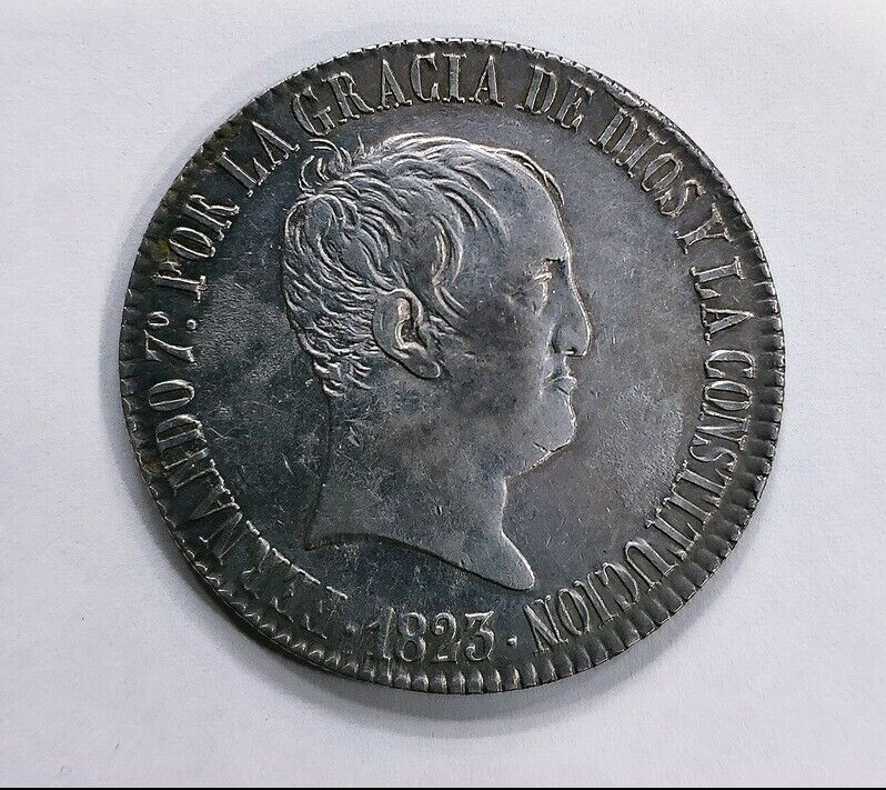8 reales Fernando VII 1823 Madrid (copias) Imagen11