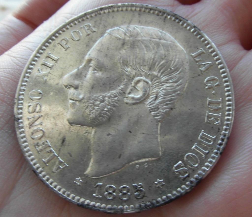 ¡¡¡¡OJO ... posible copia 5 pesetas 1885 *85 Moneda10