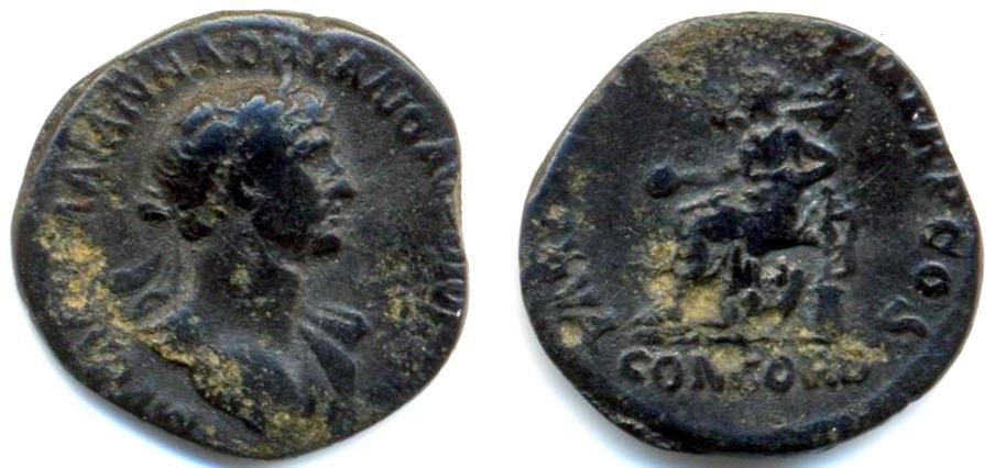 Denario forrado de Adriano. PARTH F DIVI NER NEP P M TR P COS/ CONCORD /. Roma _a_aa17