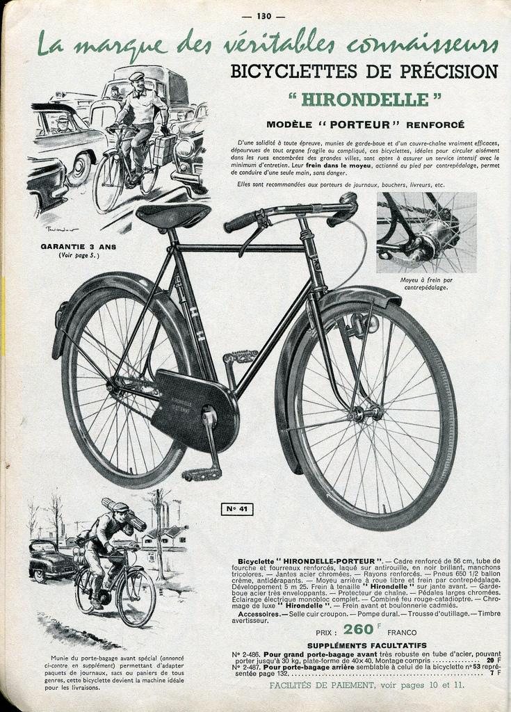 """infos ? sur vélo marque """"Hirondelle"""" 62173810"""