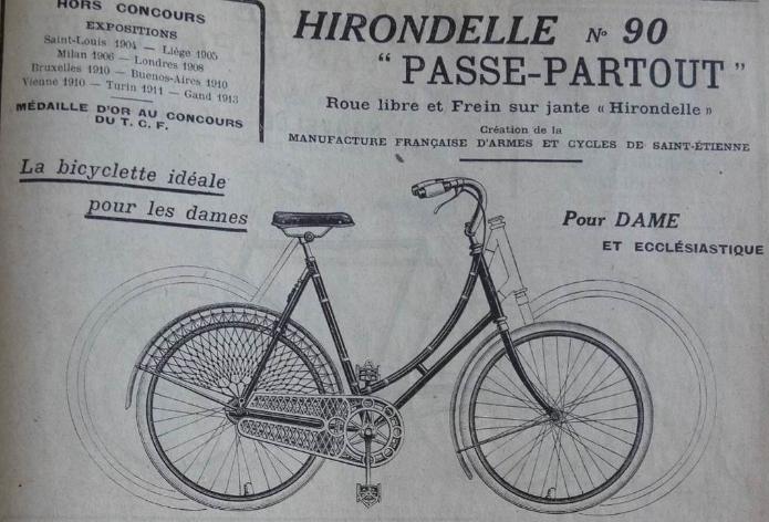 Hirondelle Manufrance carter ajouré 1915 ? n.177502 Captur20
