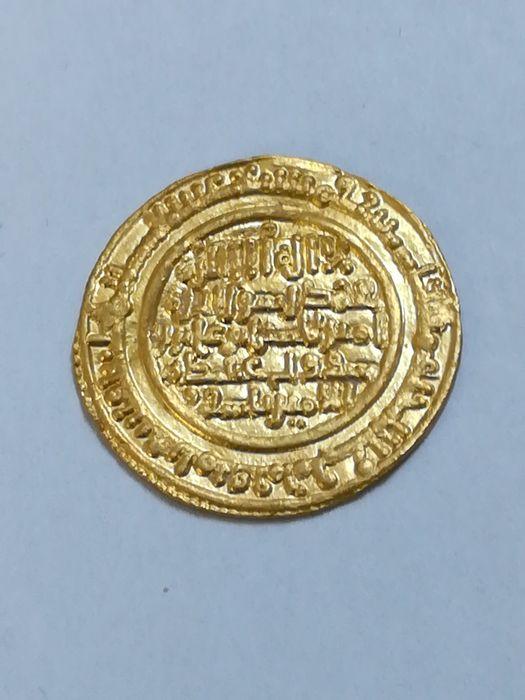Dinar de Alí ben Yusuf con Tasfin, 537 H, Almería Creu10