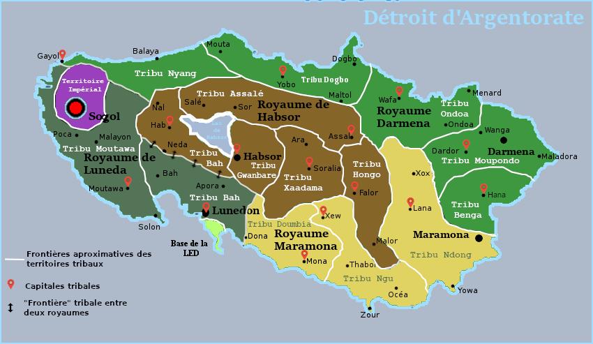 Les principales tribus gwanguamas et leurs géographies. Carte_10