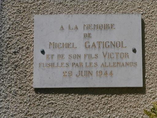 Michel et Victor Gatignol, fusillés le 29 juin 1944 (Cantal) St_don16