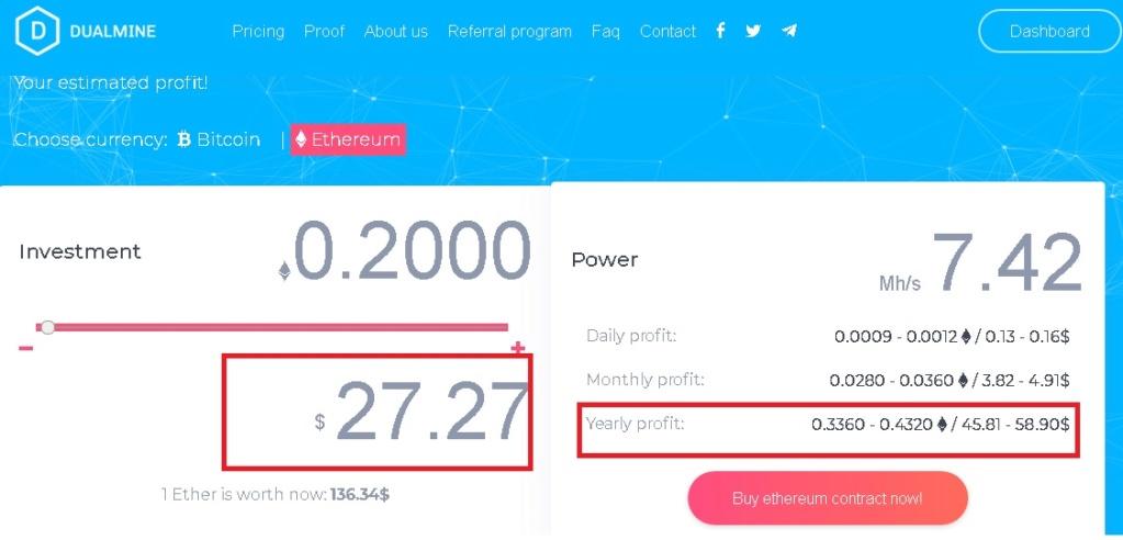 Multipliez vos Bitcoins et Ethereum - autant de preuves de paiement Eth_pl10