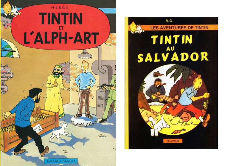 Parodies, pastiches et albums pirates Tintin15