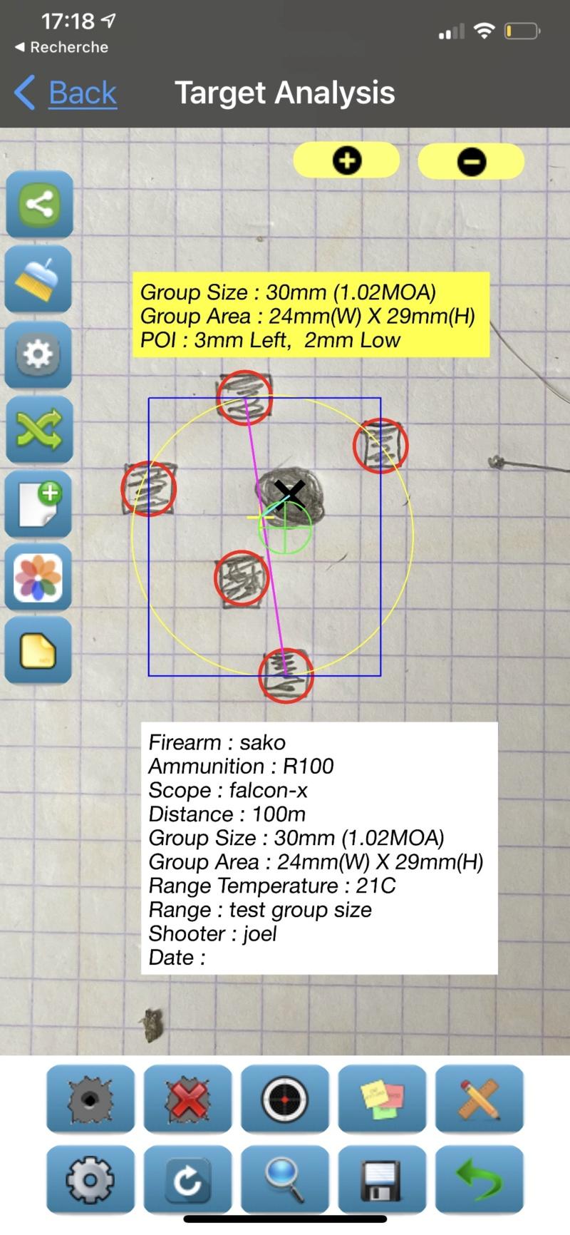 Groupe size mode de calcul Submoa, ballistic-x, targetScan  ?  5de36110