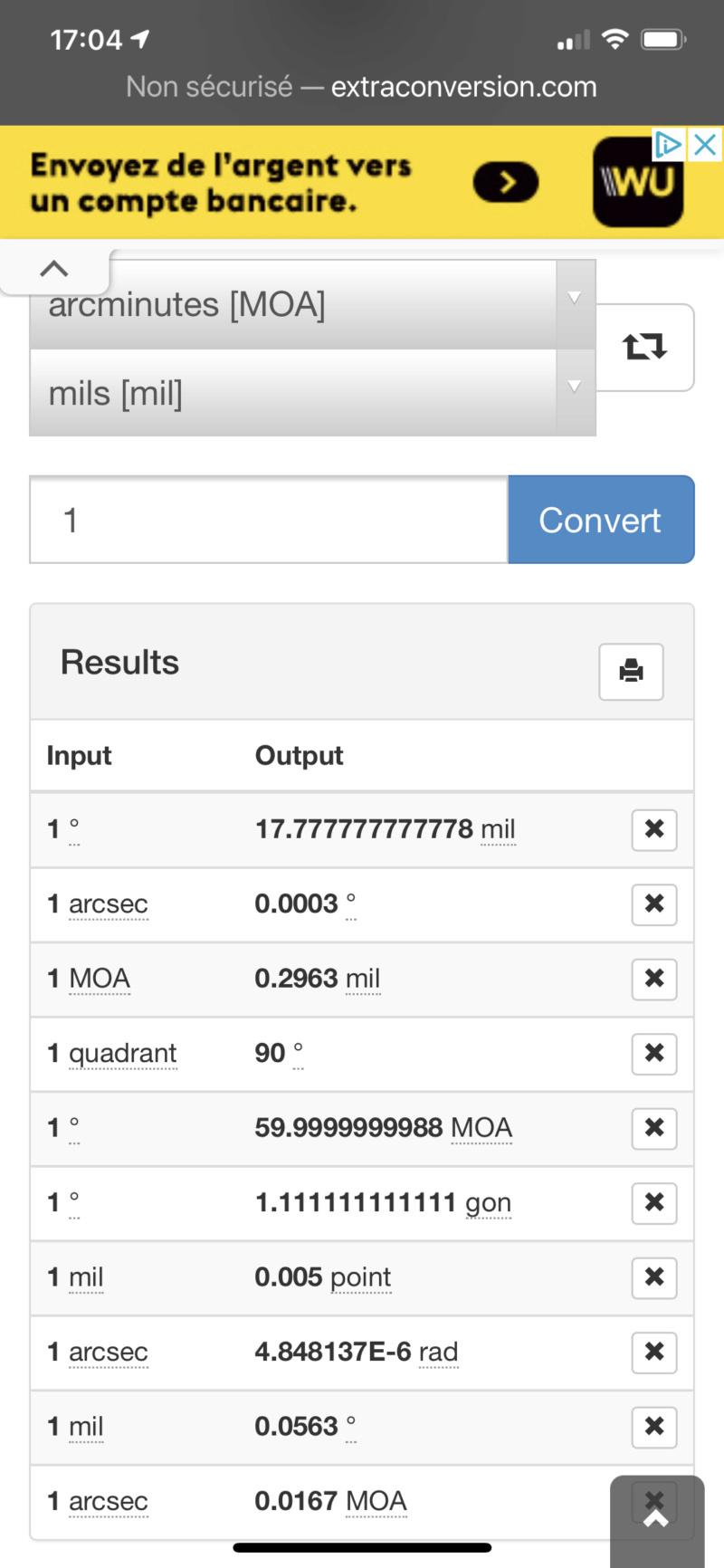 Groupe size mode de calcul Submoa, ballistic-x, targetScan  ?  D1652110