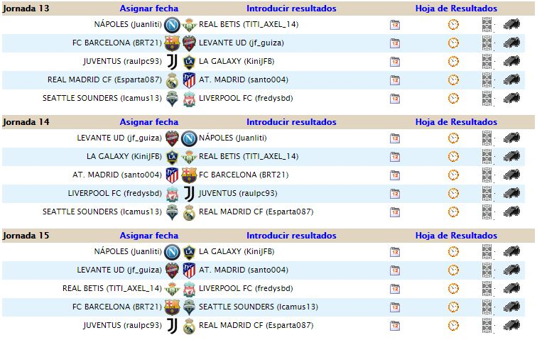 JORNADAS 13, 14 Y 15 112
