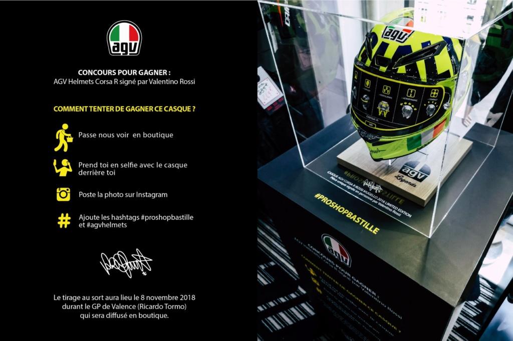 Concours AGV CORSA R signée par Rossi en personne. Prosho12