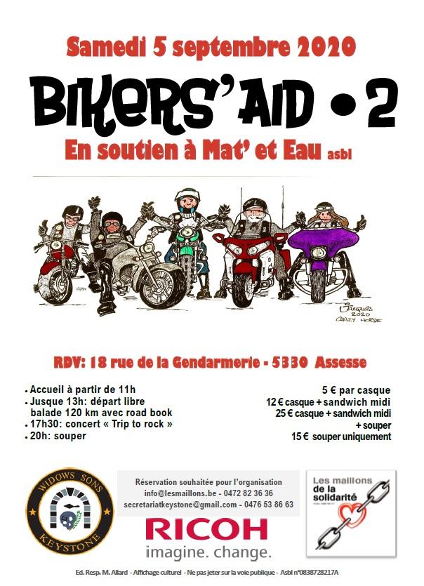 Bikers Aid 5 septembre 2020, Assesse, Belgique. Pour une bonne oeuvre ! Bikers11