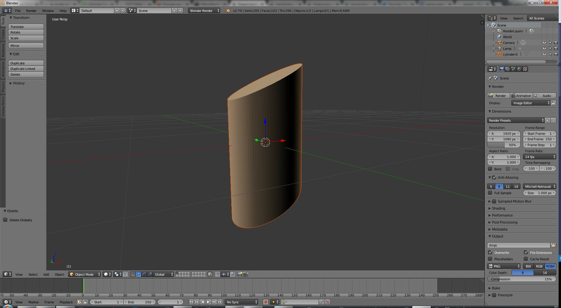 Modeling for OpenBVE in Blender 3D editor B7013