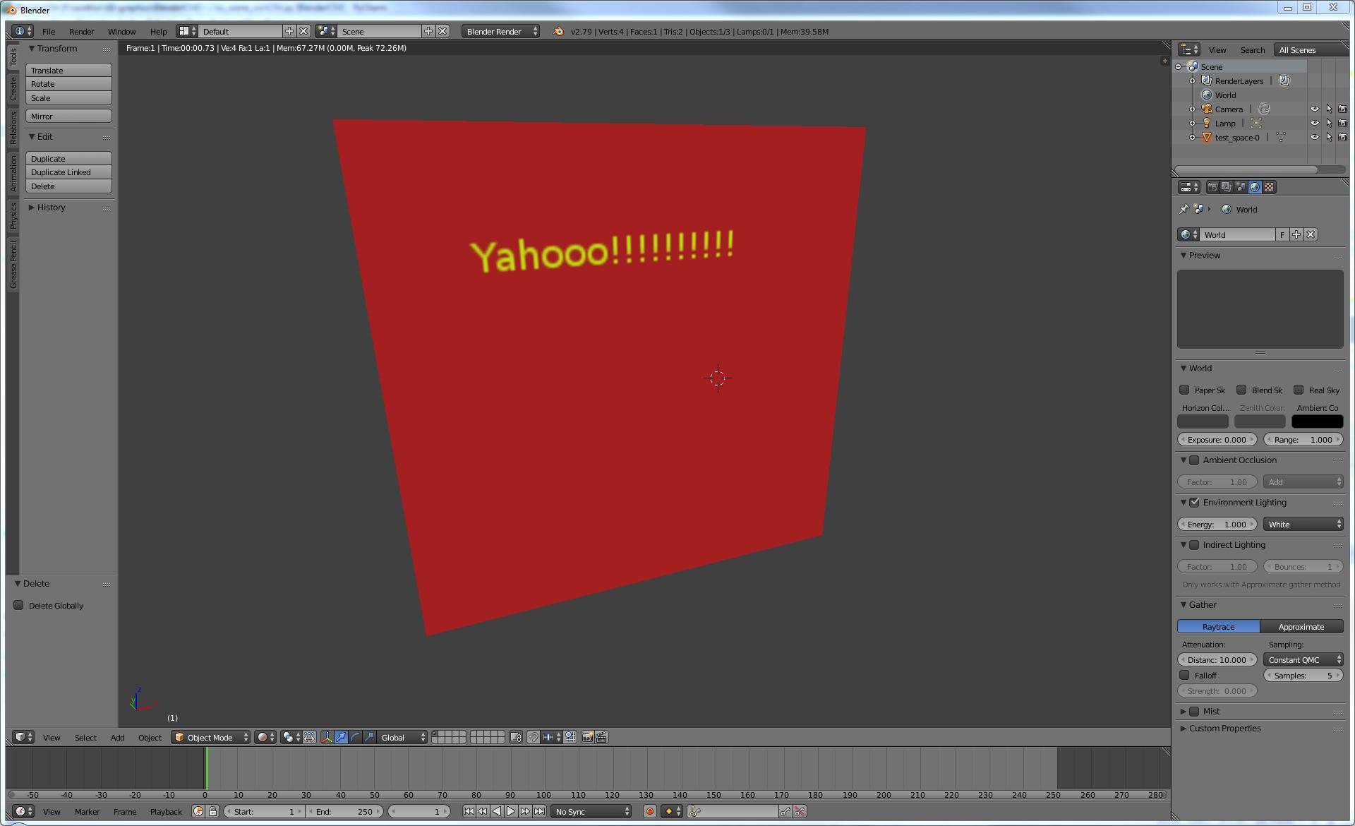 Modeling for OpenBVE in Blender 3D editor B7910