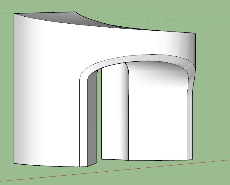 [ SKETCHUP généralité ] Tracer la paralèlle à une courbe sur un plan courbe? Captur31