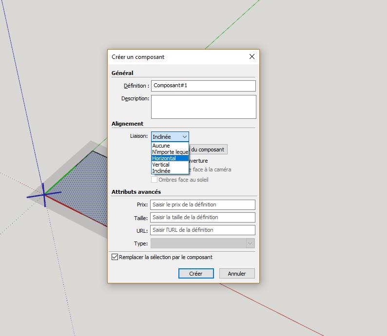[ SKETCHUP composants dynamiques ] Modifier Propriétés insertion Composant Captur32