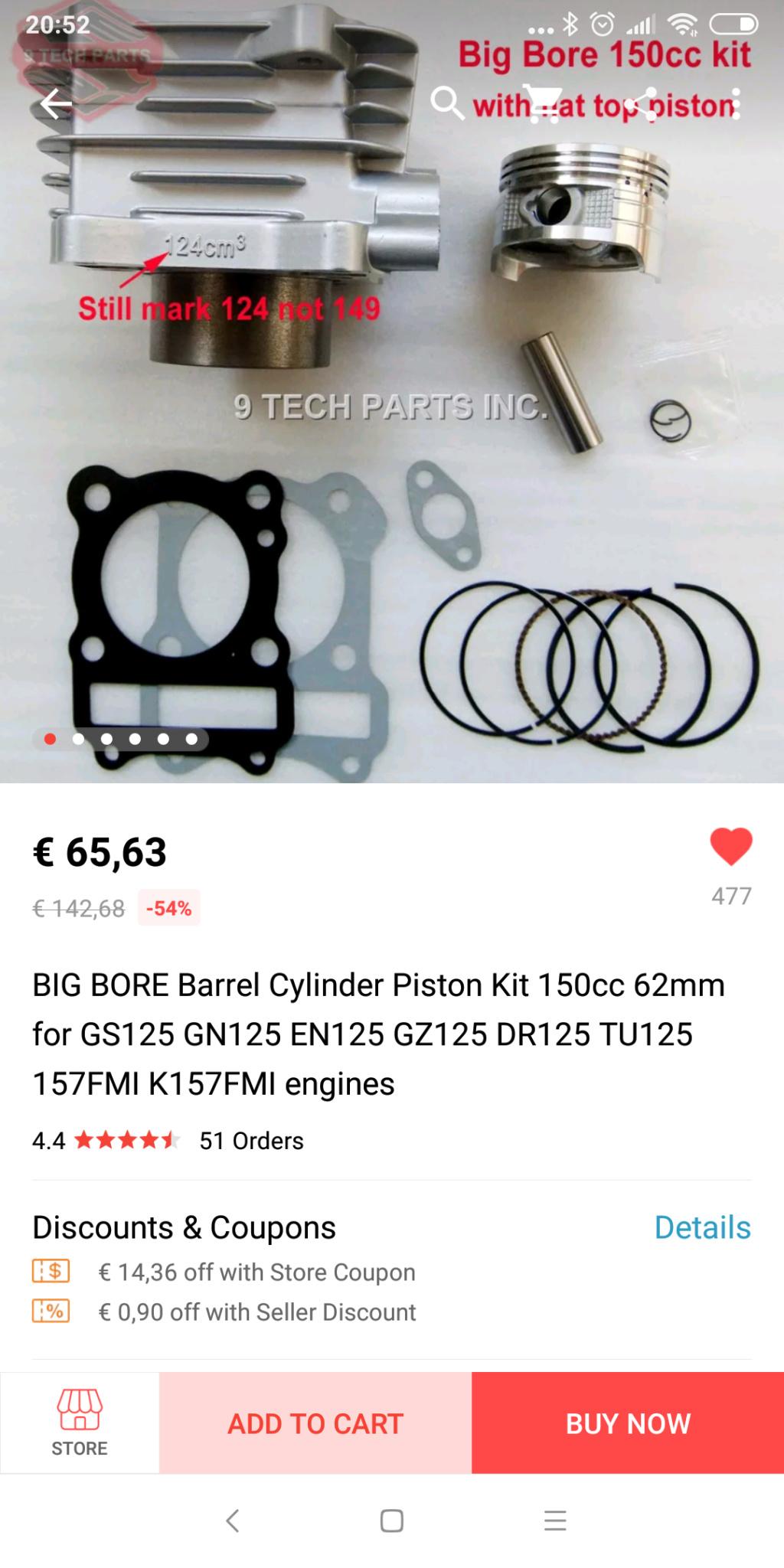 Kit de cilindro y pistón de 150 cc para RKV Y RKS - Página 6 Screen10