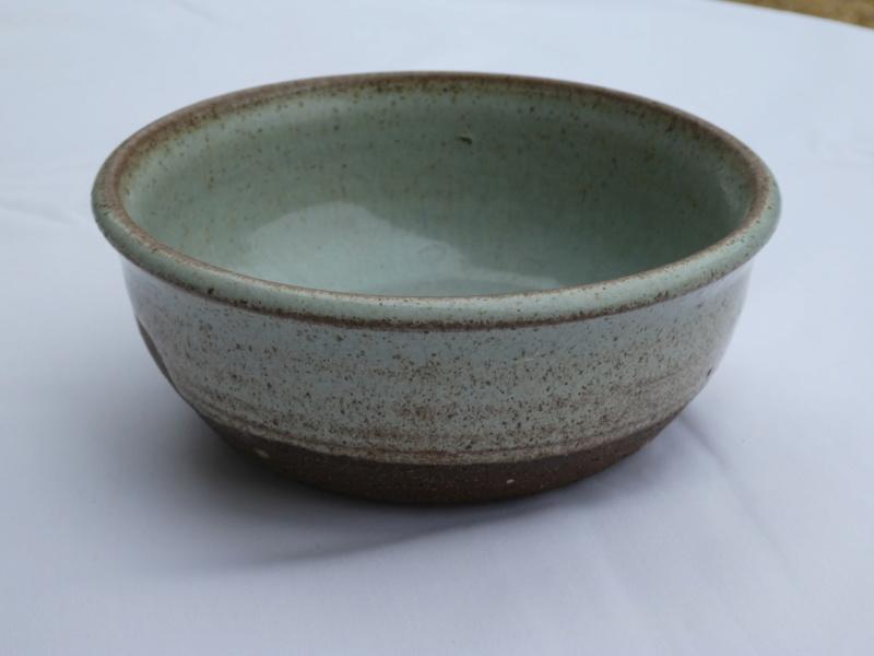 Stoneware Bowl with X mark P1000016