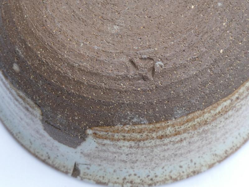 Stoneware Bowl with X mark P1000017