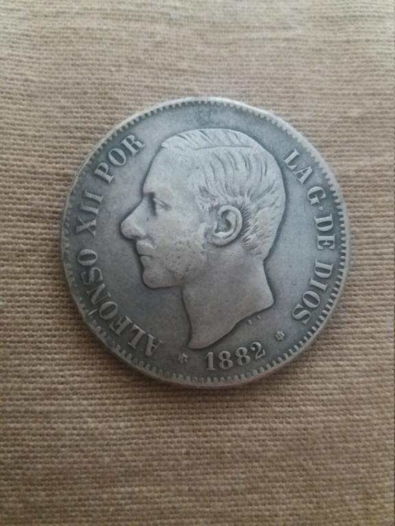 5 pesetas 1882 15512610