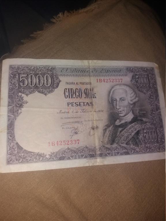 2 billetes de 5000 pesetas 1976 15513012